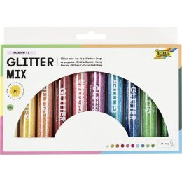 folia Glitter-Mix Rainbow, 10 Tuben à 14 g