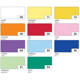 folia Transparentpapier, 505 x 700 mm, 115 g/qm, sortiert