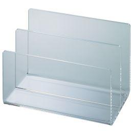 MAUL Kartenständer Acryl mit 2 Fächern, glasklar