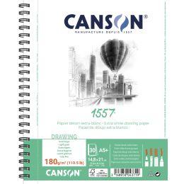 CANSON Zeichenpapierblock 1557, DIN A5+, 180 g/qm, 30 Blatt