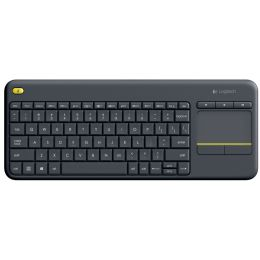 Logitech Tastatur K400 Plus, kabellos, mit Touchpad