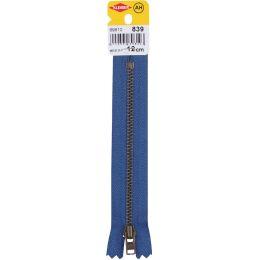 KLEIBER Reißverschluss, Metall, Länge: 120 mm, jeansblau