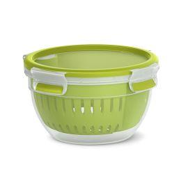 emsa Fruit Bowl CLIP & GO, 1,1 Liter, transparent/grün, rund