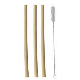 PAPSTAR Bambus-Trinkhalm pure, 230 mm, natur