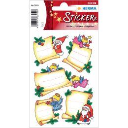 HERMA Weihnachts-Sticker DECOR Weihnachtsbriefe, Widmung