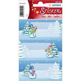 HERMA Weihnachts-Sticker DECOR Winterlandschaft