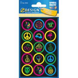 AVERY Zweckform ZDesign KIDS Neon-Sticker Buttons