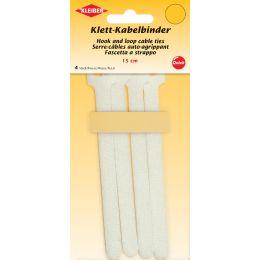 KLEIBER Klett-Kabelbinder, 150 x 40 mm, weiß