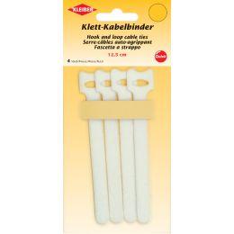 KLEIBER Klett-Kabelbinder, 125 x 40 mm, weiß