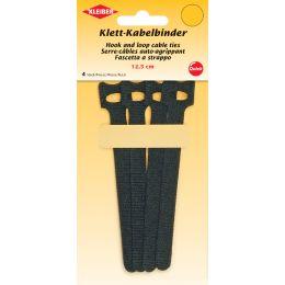 KLEIBER Klett-Kabelbinder, 125 x 40 mm, schwarz