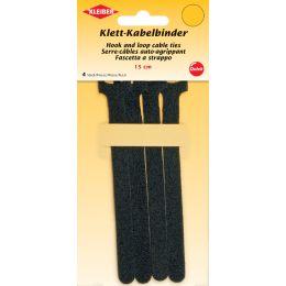 KLEIBER Klett-Kabelbinder, 150 x 40 mm, schwarz