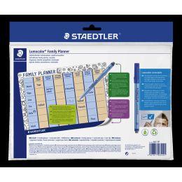 STAEDTLER Familienplaner-Set Lumocolor correctable, DIN A4
