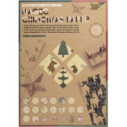 folia Kraftpapierblock MAGIC CHRISTMAS PAPER, DIN A4