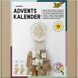 folia Adventskalender-Set MAKRAMEE, 55-teilig