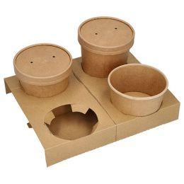 PAPSTAR Becherträger pure, aus Pappe, für 4 Suppenbecher
