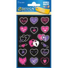 AVERY Zweckform ZDesign KIDS Neon-Sticker Herzen