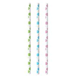 PAPSTAR Papier-Trinkhalm Dots, 200 mm, farbig sortiert