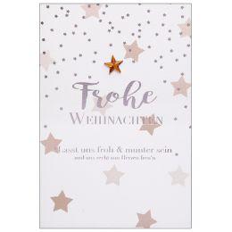 SUSY CARD Weihnachtskarte Sterne