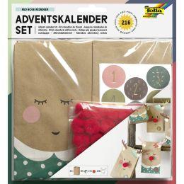 folia Adventskalender-Set RED NOSE REINDEER, 216-teilig
