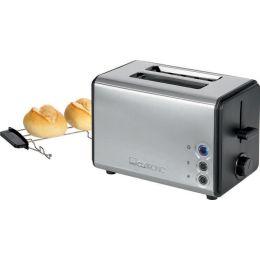 CLATRONIC 2-Scheiben Toaster TA 3620, schwarz / edelstahl