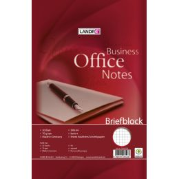 LANDRÉ Briefblock Business Office Notes, DIN A4, kariert