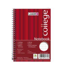 LANDRÉ Notebook college DIN A6, 160 Blatt, kariert