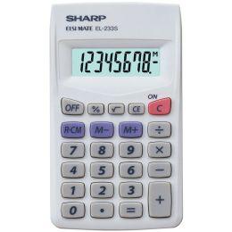 SHARP Taschenrechner EL-233 S, Batteriebetrieb