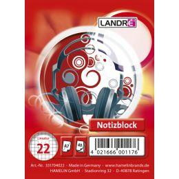 LANDR� Spiralnotizblock, DIN A7, 40 Blatt, kariert