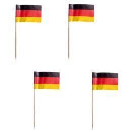 PAPSTAR Partypicker Germany, schwarz/rot/gelb, aus Holz
