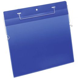 DURABLE Drahtbügeltasche, A4 quer, blau