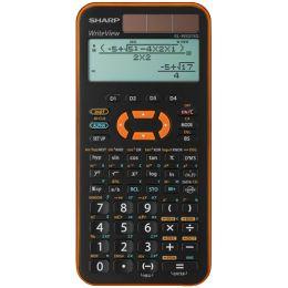 SHARP Schulrechner EL-W531 XG, Farbe: orange