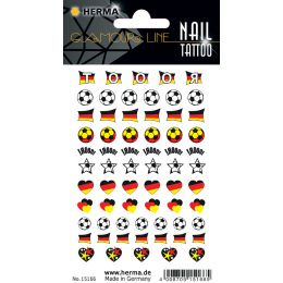 HERMA CLASSIC Nail Tattoo German Heart
