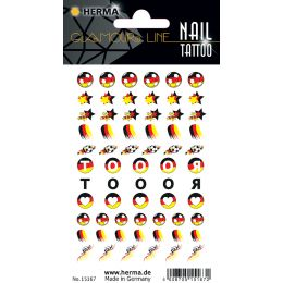 HERMA CLASSIC Nail Tattoo German Star
