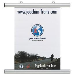 FRANKEN Plakatleiste, Aluminium, silber, Länge: 855 mm