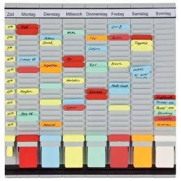 FRANKEN T-Kartentafel OfficePlaner, 7 Module, 490 x 473 mm