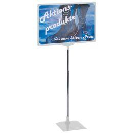 FRANKEN Infoständer / Preisständer, DIN A4, grau