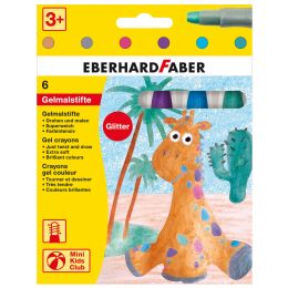 EBERHARD FABER Gelmalstift Glitter, 6er Kartonetui