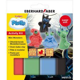 EBERHARD FABER Modellier-Set Pluffy Mini Monster