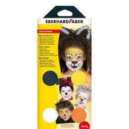 EBERHARD FABER Schminkfarben-Set Tiere, 4 Farben