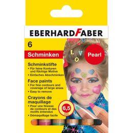EBERHARD FABER Schminkstifte-Set Pearl, 6 Farben