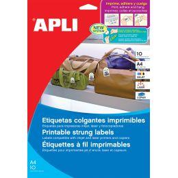 agipa Produktanhänger mit Schnüren, weiB, 22 x 35 mm