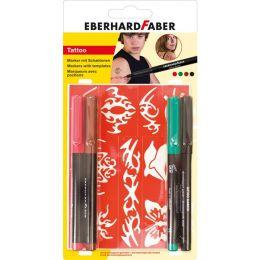 EBERHARD FABER Tattoo Marker Basic, 4er Blisterkarte