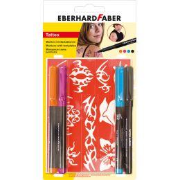 EBERHARD FABER Tattoo Marker Bright, 4er Blisterkarte