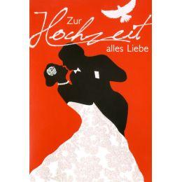 HORN Hochzeitskarte - Tanzendes Brautpaar - inkl. Umschlag