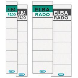 ELBA Ordnerrücken-Einsteckschild Rado Brillant, kurz/breit