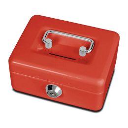 MAUL Geldkassette mit Münzeinwurf, rot