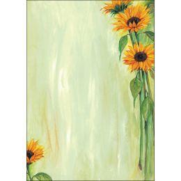 sigel Design-Papier, DIN A4, 90 g/qm, Motiv Sunflower