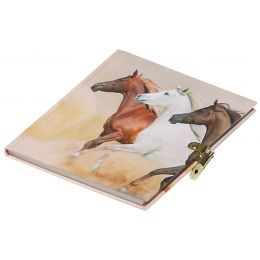 PAGNA Tagebuch Wildpferde, 80 g/qm, 64 Blatt