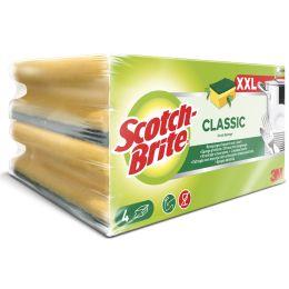 Scotch-Brite Reinigungsschwamm Classic XXL, Farbe: gelb/grün