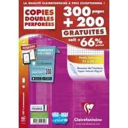 Étui copies doubles A4 300 pages + 200 GRATUITES 5x5 90g
